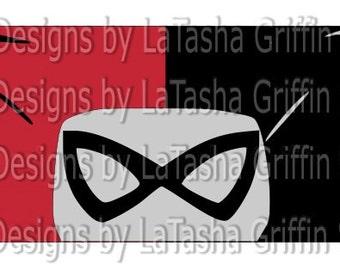 Harley Quinn SVG & DXF | Lady Joker | Red and Black Joker | Batman | Gotham | DC Comics |