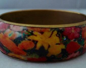 vintage enamel bracelet/bangle
