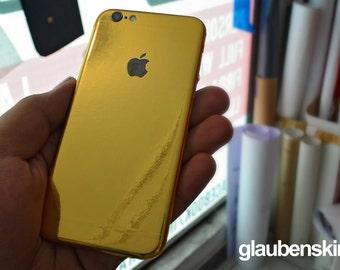 iphone 6 skin GOLD CHROME