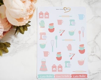 Lets Bake // 31 Stickers