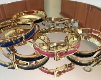 Lot of Buckle Style Bangle Bracelets in a Variety of Colors