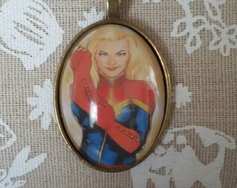 Captain Marvel cameo necklace
