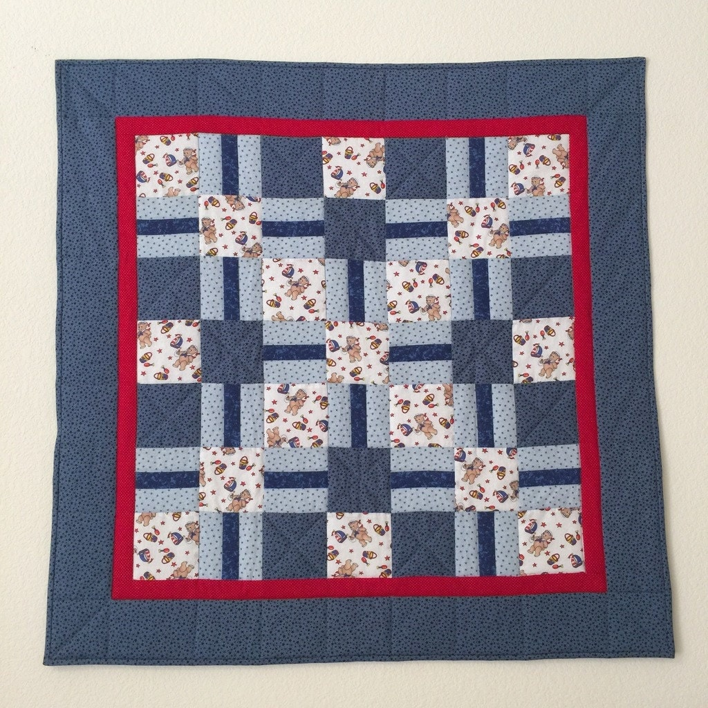 Homemade Baby Quilt Baby Boy Quilt Baby Quilts Crib Quilt