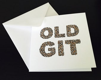 Old Git Greeting Card