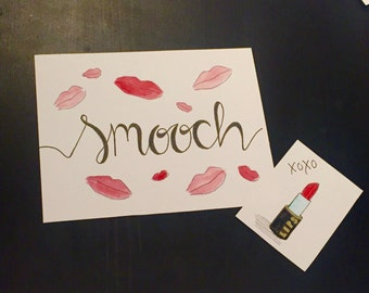 Smooch Watercolor Painting