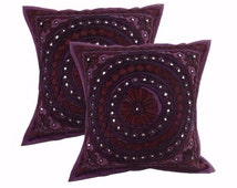 Handmade pillowcase has beautiful embroidery made from Silk yarn for a unique look. Available in set of 2pcs
