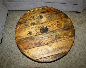 Wooden Spool Top Coffee Table