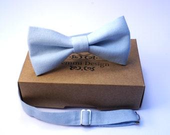 Mint Blue Bow Tie For Wedding /  Groomsmen mint bow tie