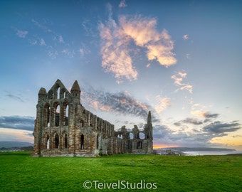Whitby Abbey - Sunset - North Yorkshire - Fine Print - Photography - Wall Print - Coast