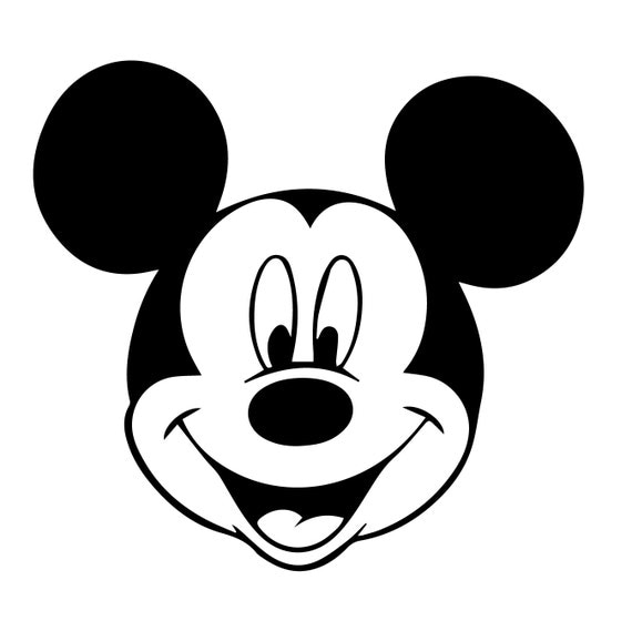 Mickey Mouse Svg Walt Disney Eps Mickey Mouse Silhouette