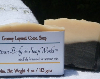 Creamy Layered Cocoa Soap, 4 oz.