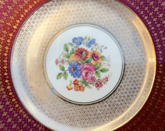 Pretty in Pink-Signed Aynsley Cabinet Plate