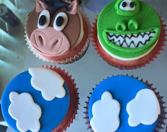 Toy Story inspired cupcake toppers