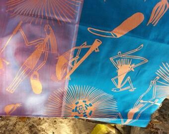 Silk Scarf Mimih Kunborrk (Mimih Dancers) by Injalak Women Artists