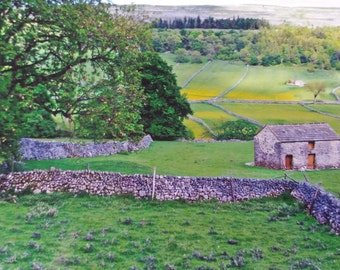 Photograph of a BARN in the YORKSHIRE DALES