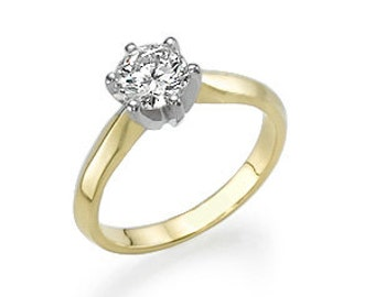 Gold ring with diamond 1.01 CT