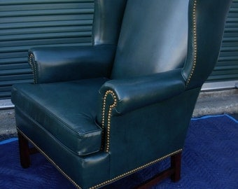 rare hancock u0026 moore wing chair h m raleigh collection chippendale