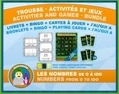Jeux & Activités - Les nombres - Thème Jungle
