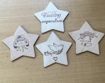 Wedding themed coasters