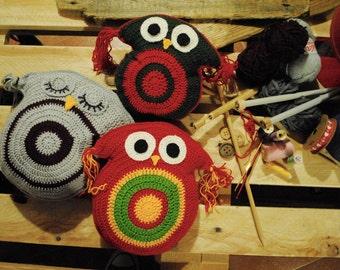 Cute Crochet Owl Pillow Toy
