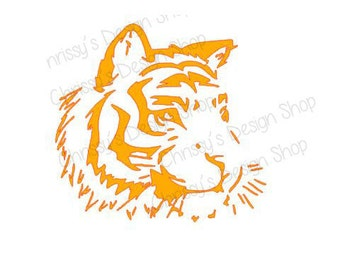 Tiger Head svg and silhouette / Africa animals svg / tiger svg / Tiger head SVG / vinyl crafting / print and cut file / tiger dxf