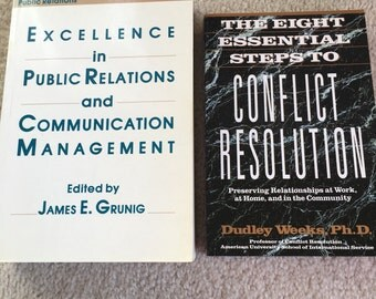 Excellence in Public Relations and Communication Management / Conflict resolution