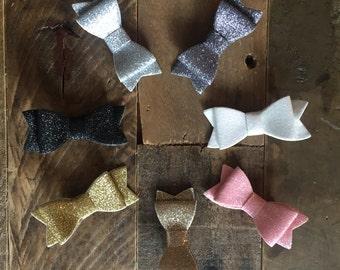 glitter hair bow clips