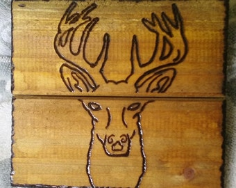 Rustic Buck Head