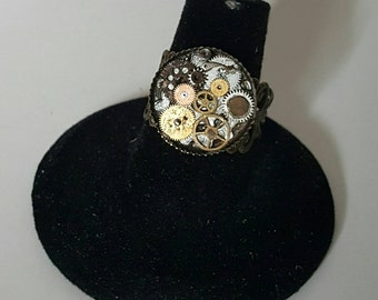 OOAK Steampunk gear ring