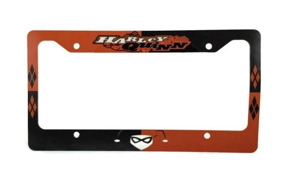 Harley Quinn Aluminum 6 X 12 License Plate Frame