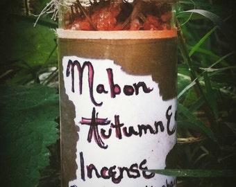 Mabon / Autumn Equinox Ritual Incense Blend - Sabbat - Festival - Harvest - Pagan - Wiccan - Wicca - Witchcraft - Loose Incense - Cork Jar