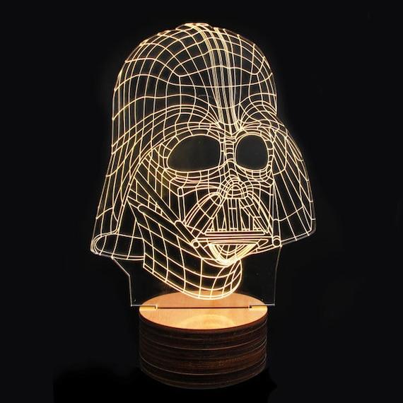 star wars 3d deco lamps darth vader helmet by geekyget on etsy. Black Bedroom Furniture Sets. Home Design Ideas