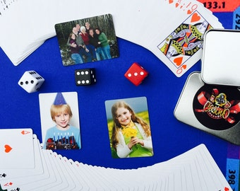 Custom Personalized Photo Poker Playing Cards | Customized Deck of Poker Sized Photo Cards