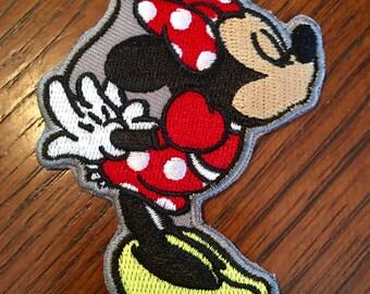 "Kissing Mice 'Minnie"" patch."