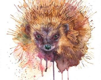 Hedgehog Print Art Print Hedgehog Picture Hedgehog Illustration Hedgehog Wall Decor Herdgehog Wall Art Wall Hanging