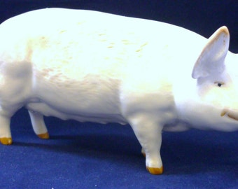 Ch Wall Queen 46 Beswick England Ceramic Model White Pig