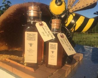 raw honey 7.50 1/2lb. 11.50 full lb.