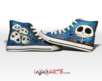 Custom hand painted Halloween-Jack shoes