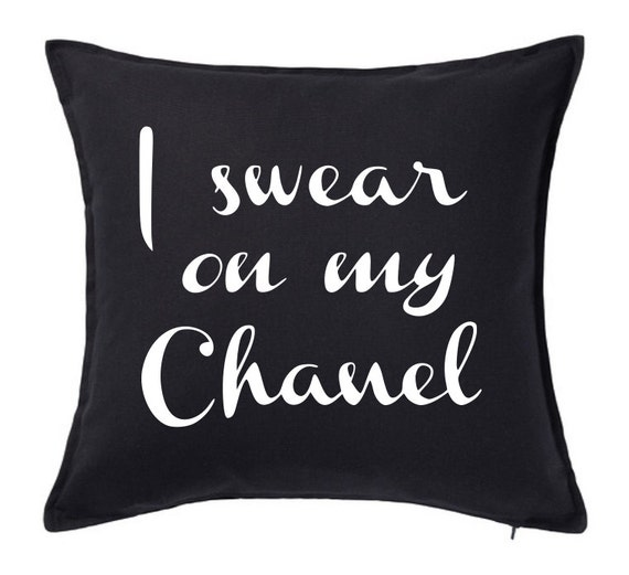 Chanel Inspired Pillow Cover College Dorm by LuxePillowPalace