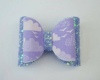 Fabric and glitter bow