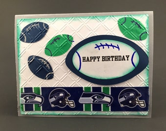 A Seattle Seahawks card,Seattle Seahawks birthday card,Seattle Seahawks fan,Seattle Seahawks gift,Seattle Seahawks collectibl, Seahawks