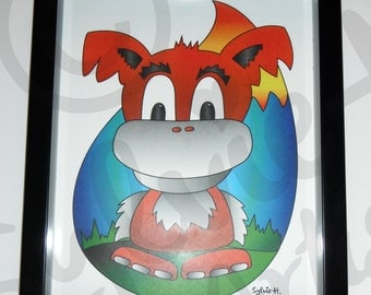 Little monster - with frame - 8 x 10-100 copies only