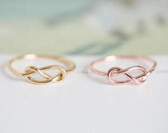 Knot ring jewelry jewellery gift idea girl cute fun gold silver
