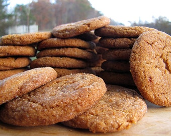 Old-Time Molasses Cookies, 1 1/2 Dozen, Homemade Cookies