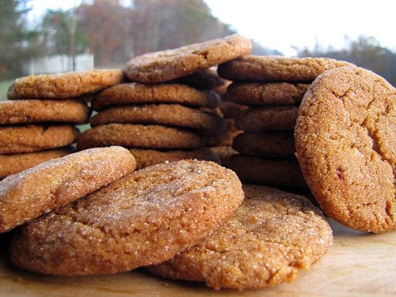 Old-Time Molasses Cookies, 2 1/2 Dozen, Homemade Cookies