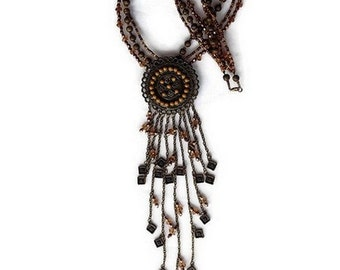 ethnic necklace, bohemian necklace, ethnic jewelry, handmade Bohemian ethnic necklace, gift idea, woman, Christmas, handmade