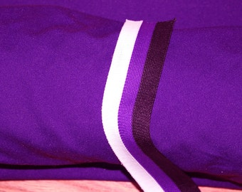 Fabric cheerleader athletic mid weight  purple team color  professional quality per 1/2 yard