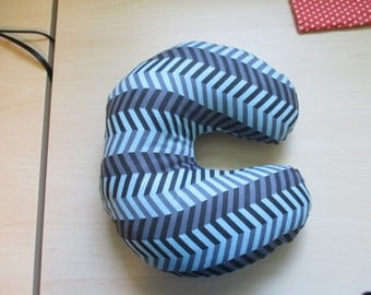 c shaped pillow letter c pillow letter pillow