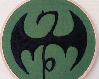 Iron Fist embroidery/ Iron Fist symbol/ Iron Fist/ Embroidery/Danny Rand