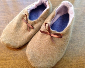 100% Felted Cashmere House Slippers